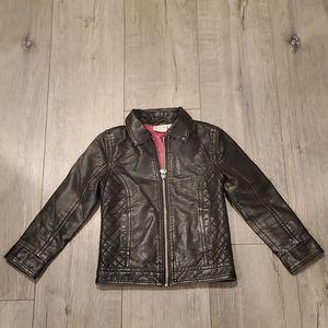 Toddler Girls Leather Jacket 3T
